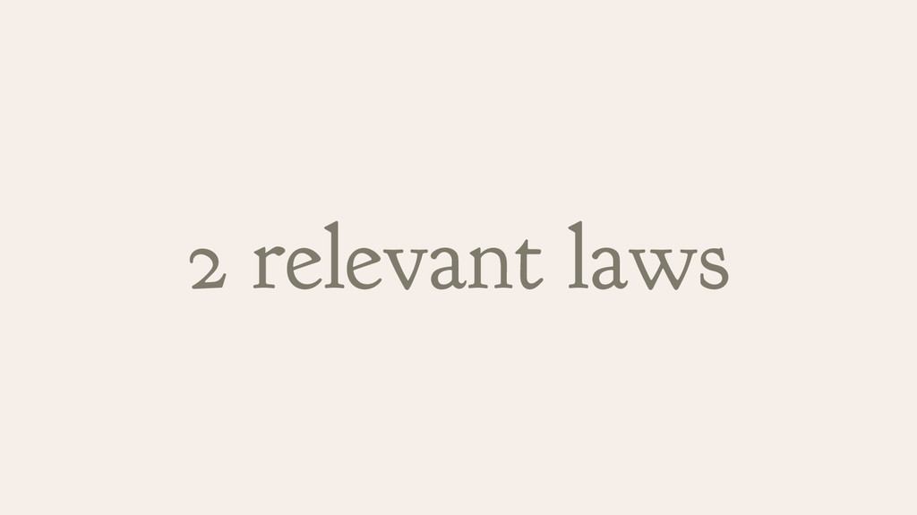 2 relevant laws