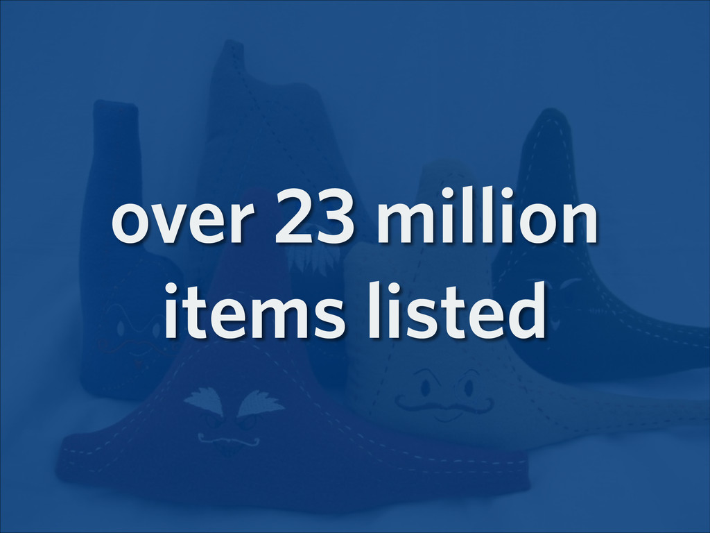 over 23 million items listed