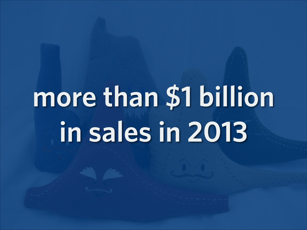 more than $1 billion in sales in 2013