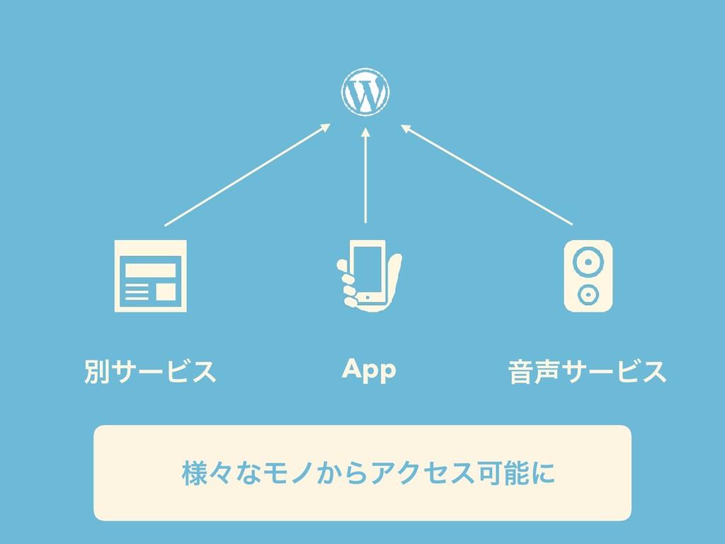 App ԻαʔϏε ผαʔϏε ༷ʑͳϞϊ͔ΒΞΫηεՄʹ
