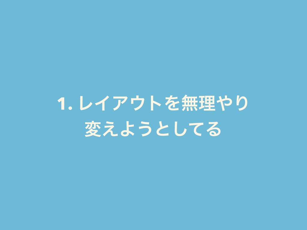 1. ϨΠΞτΛແཧΓ ม͑Α͏ͱͯ͠Δ