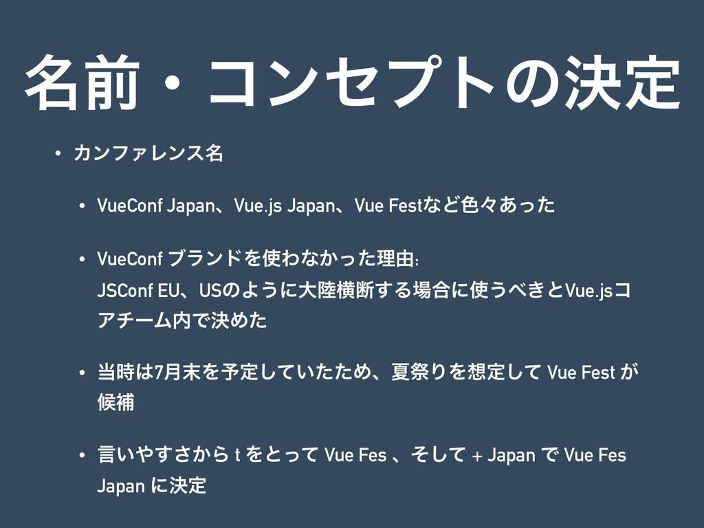 ໊લɾίϯηϓτͷܾఆ • ΧϯϑΝϨϯε໊ • VueConf JapanɺVue.js J...