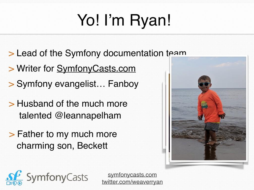 > Lead of the Symfony documentation team > Wri...