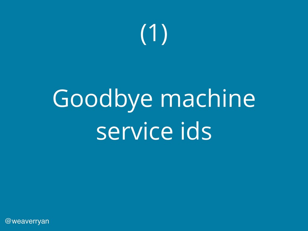 (1) Goodbye machine service ids @weaverryan