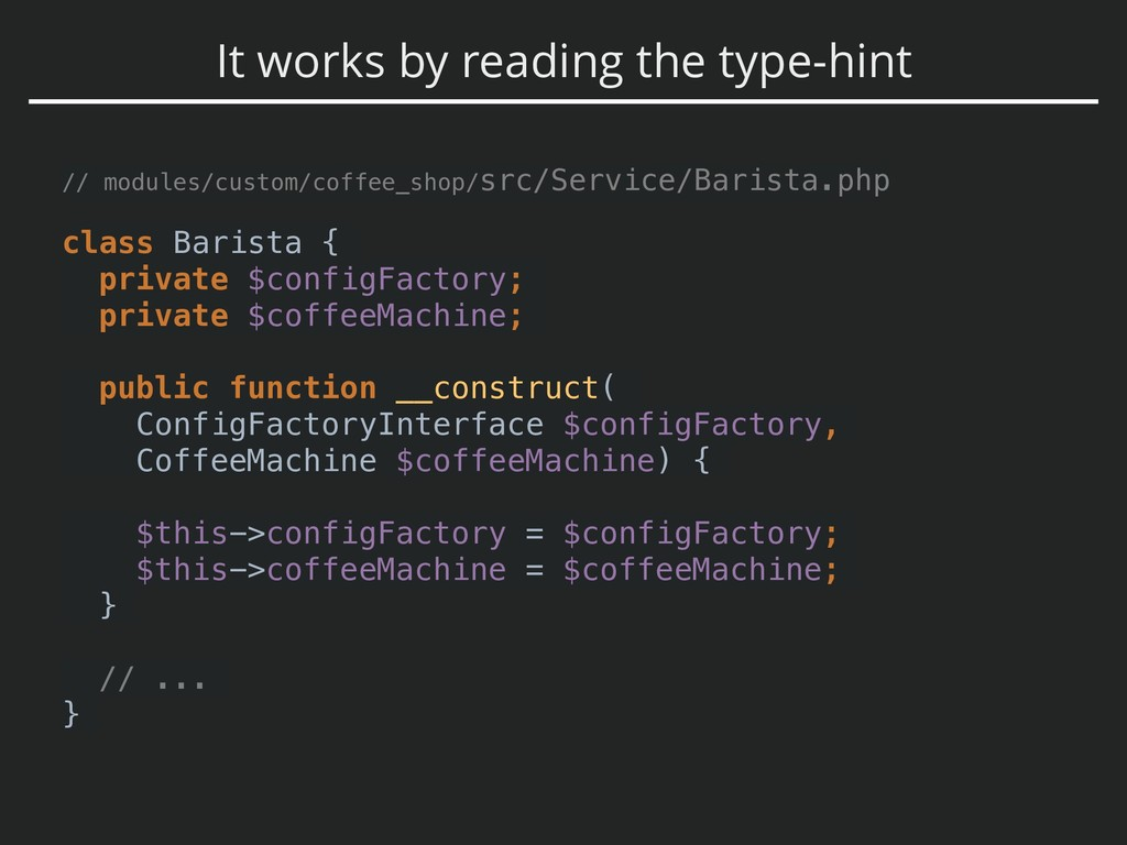 It works by reading the type-hint // modules/cu...
