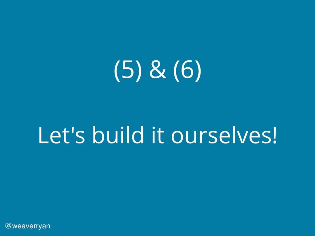 (5) & (6) Let's build it ourselves! @weaverryan