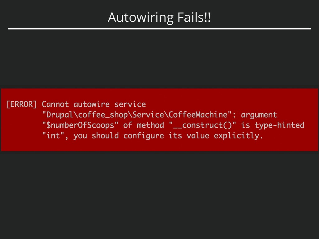 Autowiring Fails!!