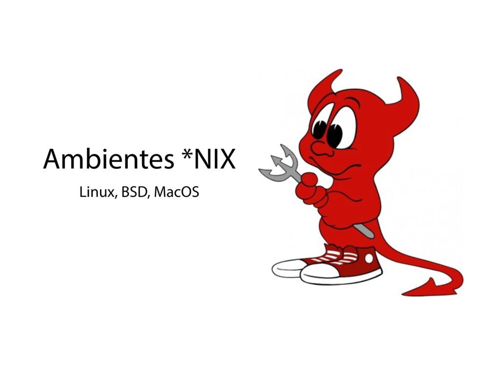 Ambientes *NIX Linux, BSD, MacOS