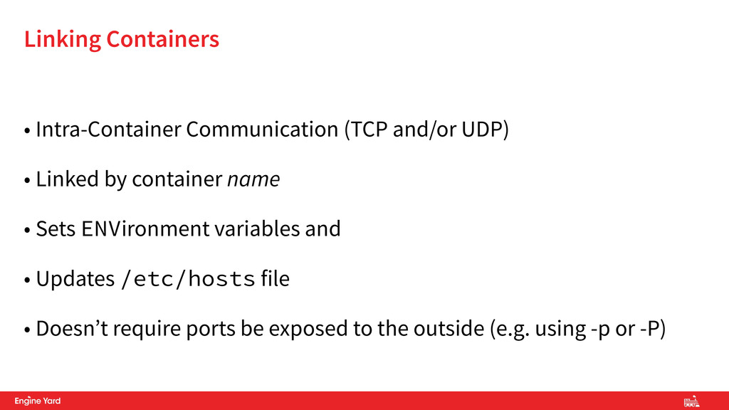 • Intra-Container Communication (TCP and/or UDP...