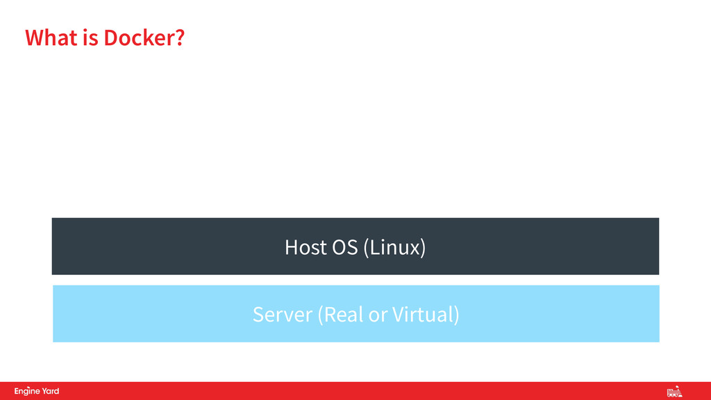 What is Docker? Host OS (Linux) Server (Real or...