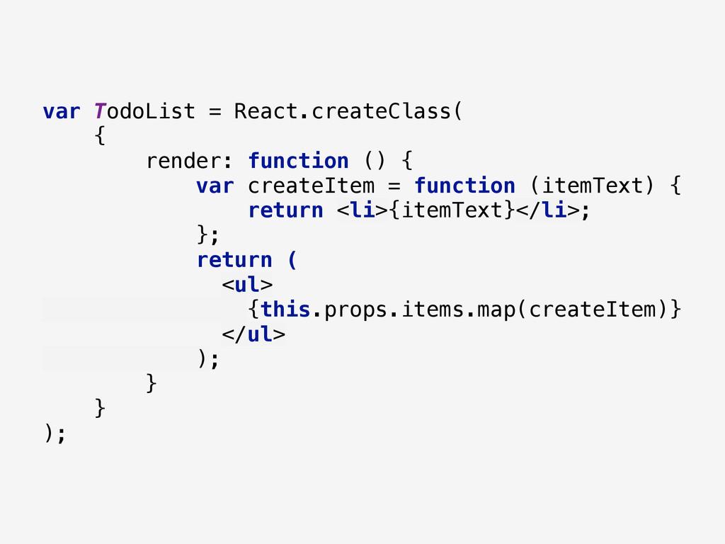var TodoList = React.createClass( { render: f...