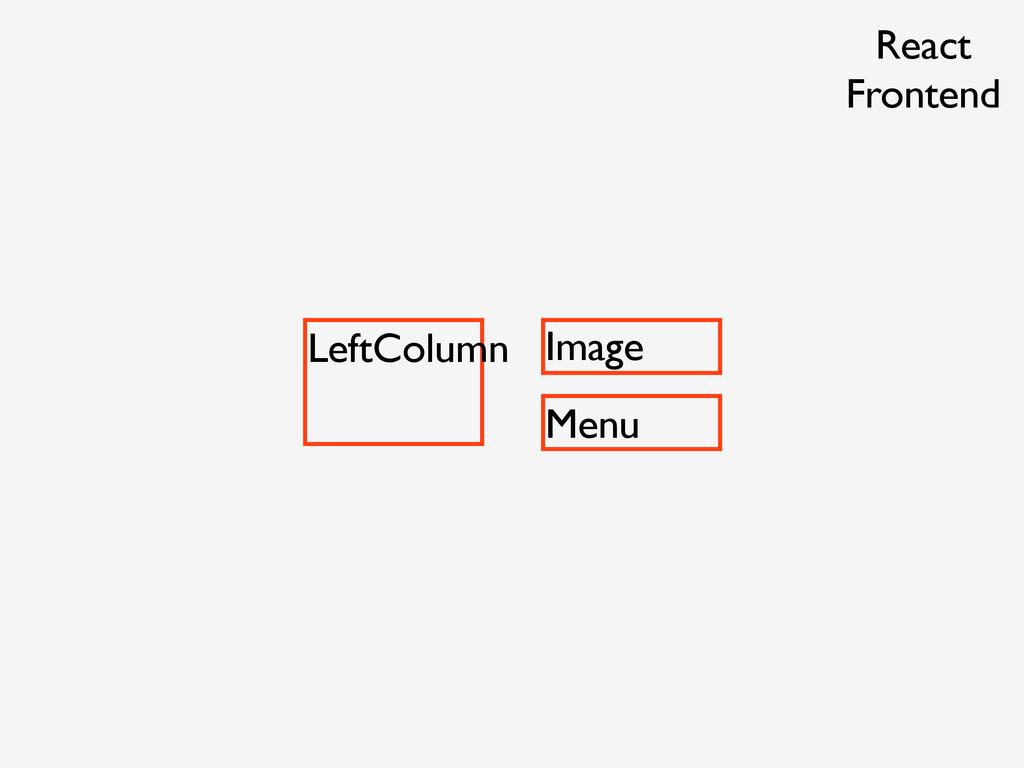 LeftColumn Image Menu React Frontend