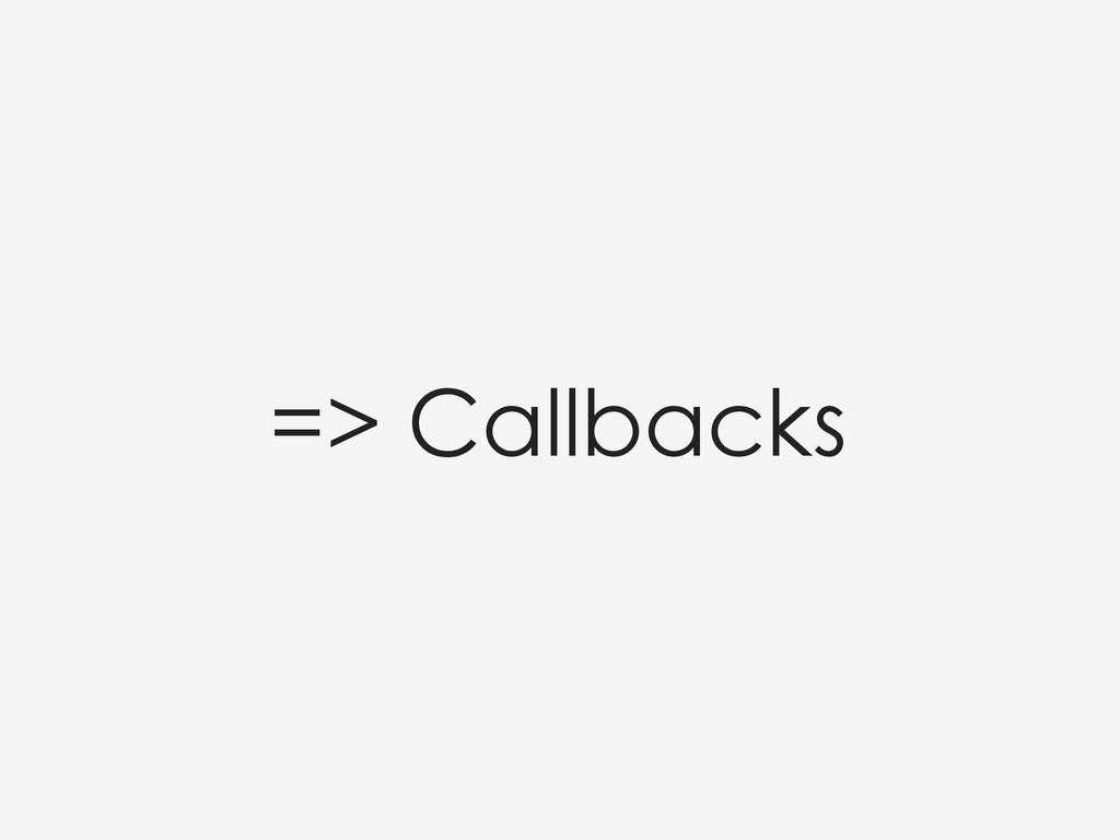 => Callbacks