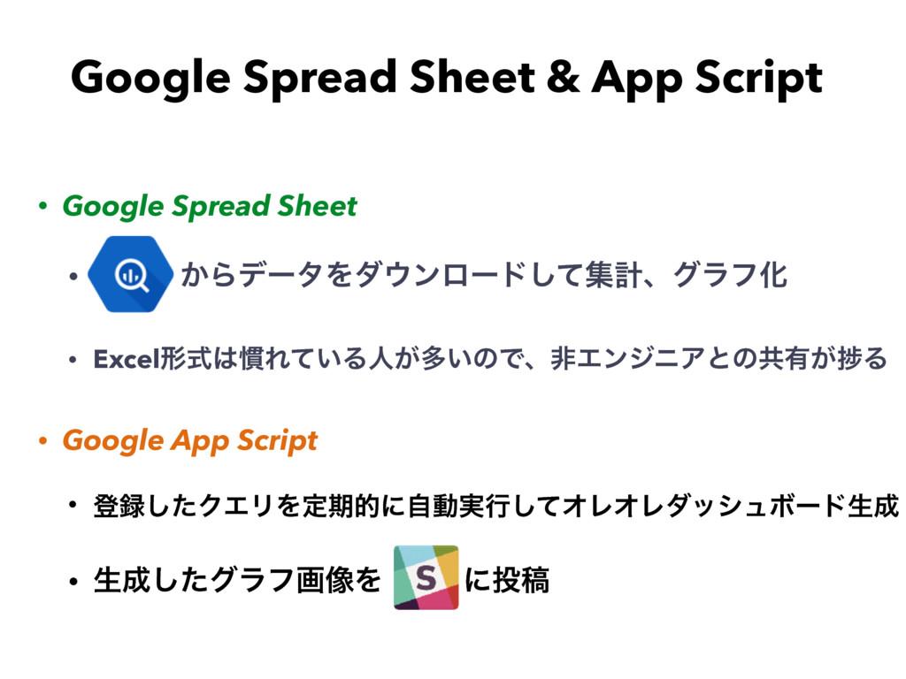 • Google Spread Sheet • ͔ΒσʔλΛμϯϩʔυͯ͠ूܭɺάϥϑԽ •...