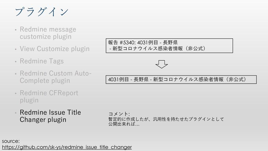 プラグイン • Redmine message customize plugin • View...