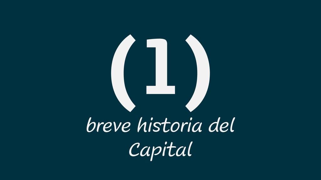 breve historia del Capital