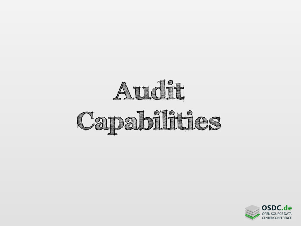 Audit Capabilities