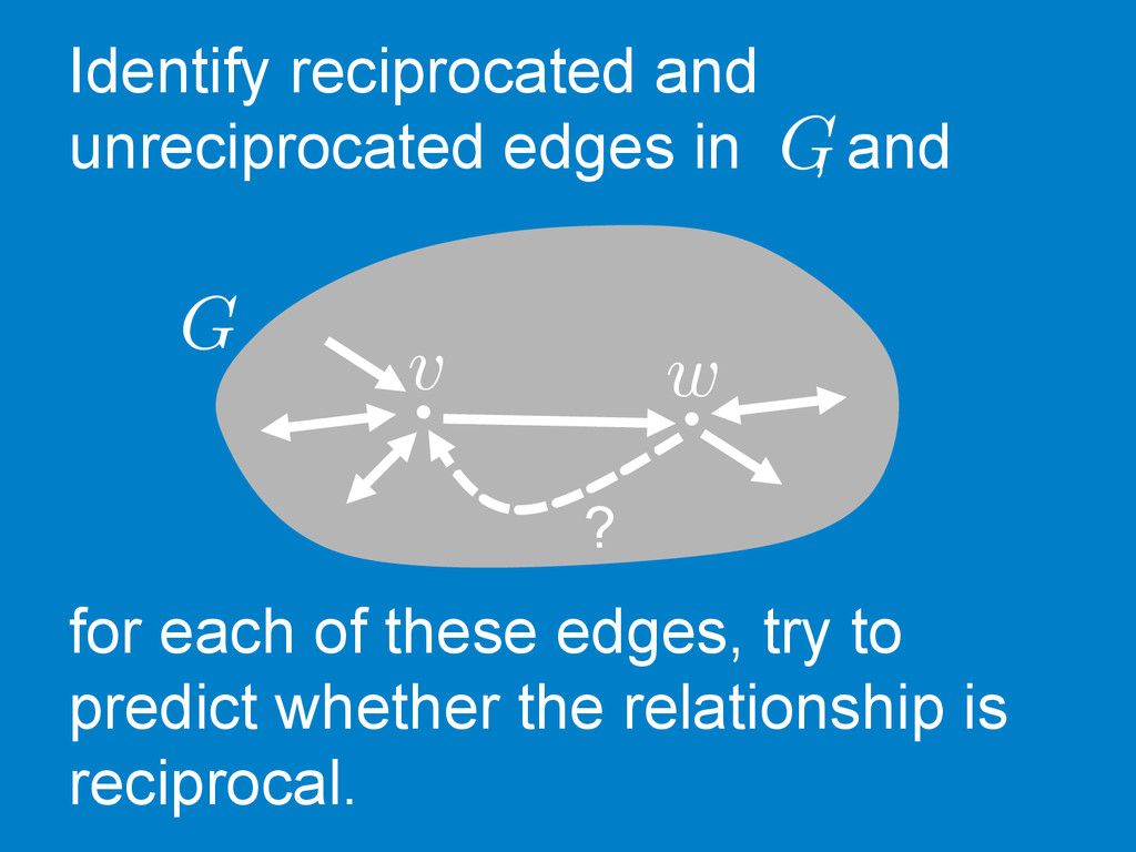 Identify reciprocated and unreciprocated edges ...