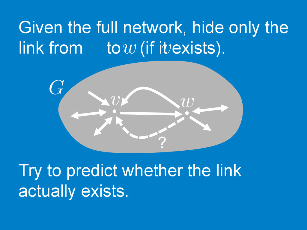 Given the full network, hide only the link from...