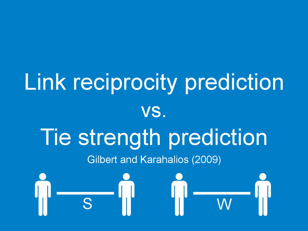 Link reciprocity prediction vs. Tie strength pr...
