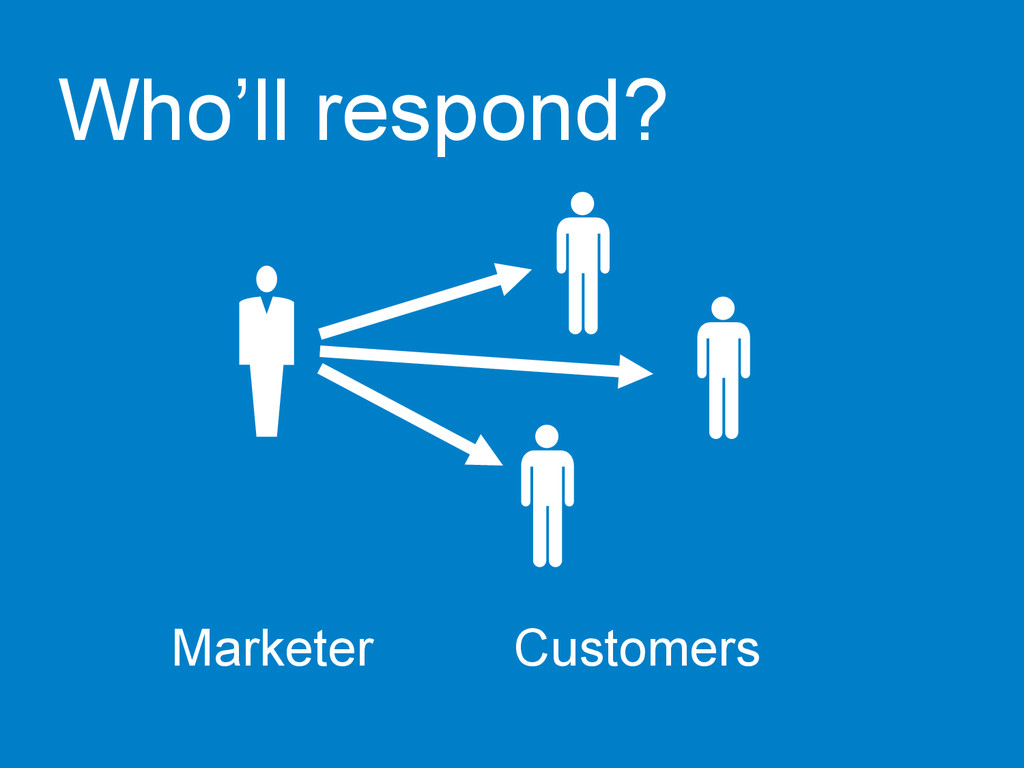 Marketer  Customers  Who'll respond?