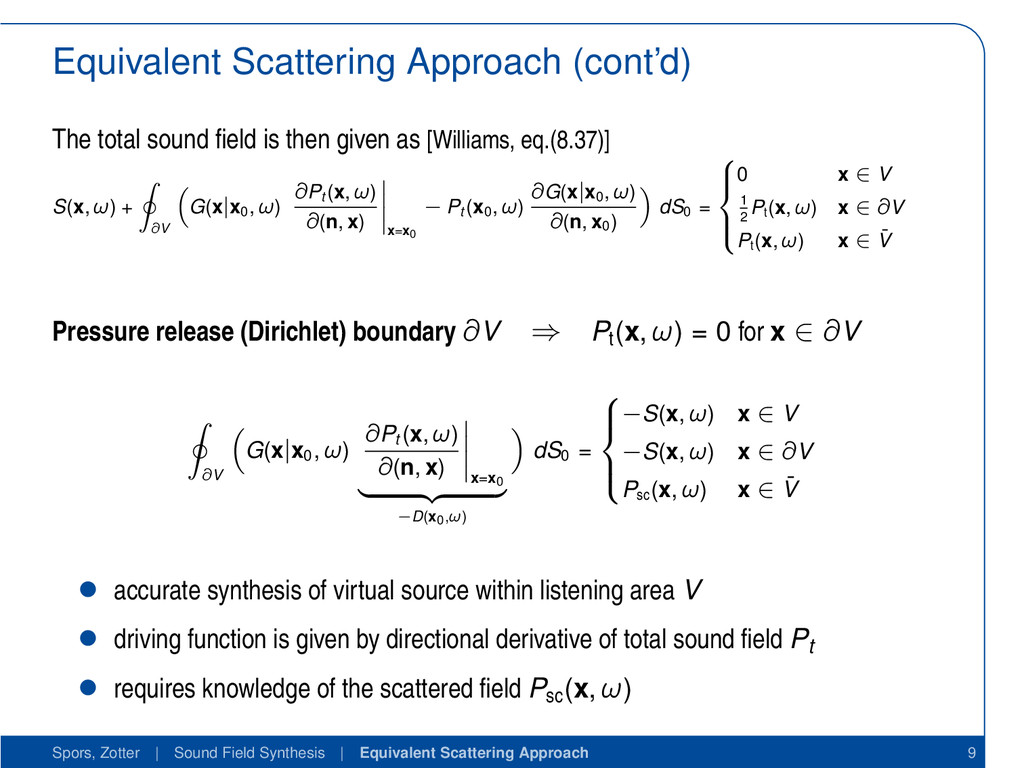 Equivalent Scattering Approach (cont'd) The tot...