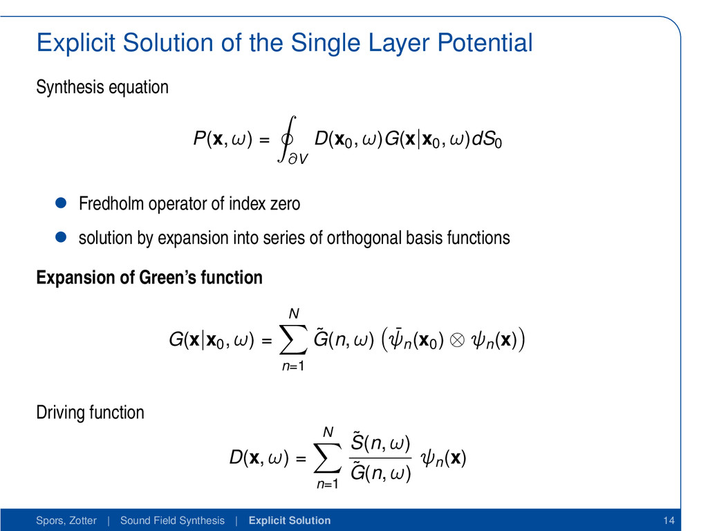 Explicit Solution of the Single Layer Potential...