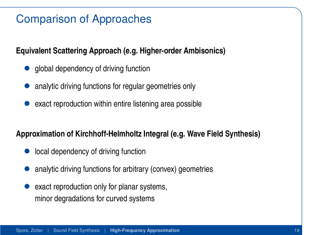 Comparison of Approaches Equivalent Scattering ...