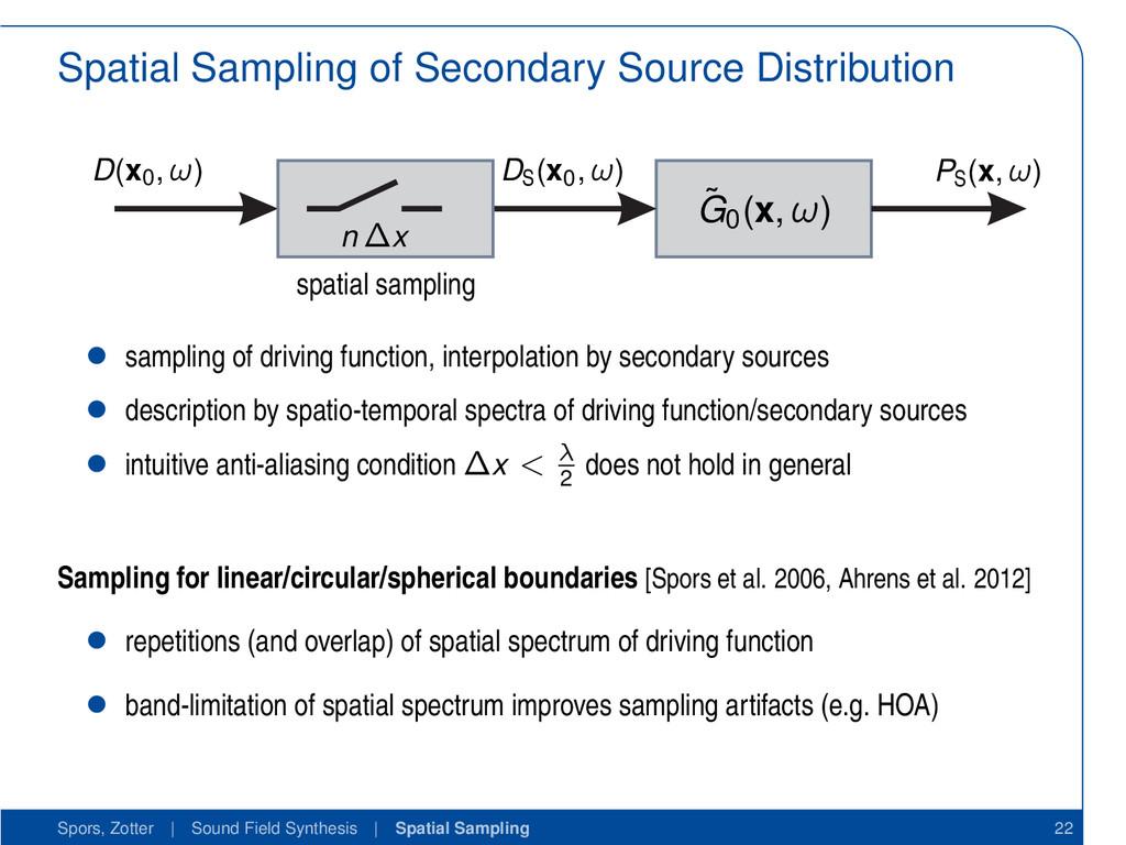 Spatial Sampling of Secondary Source Distributi...