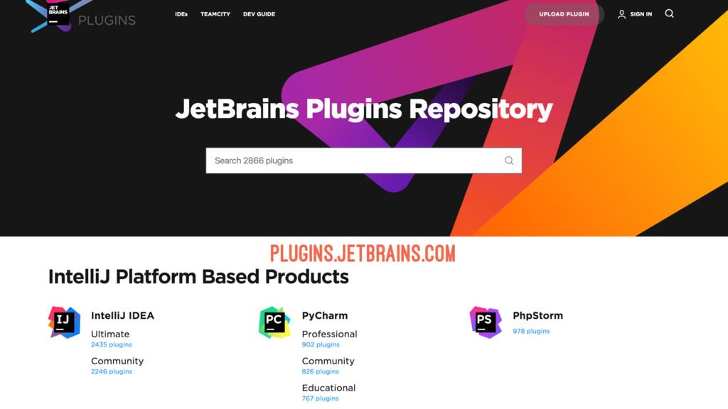 PLUGINS.JETBRAINS.COM