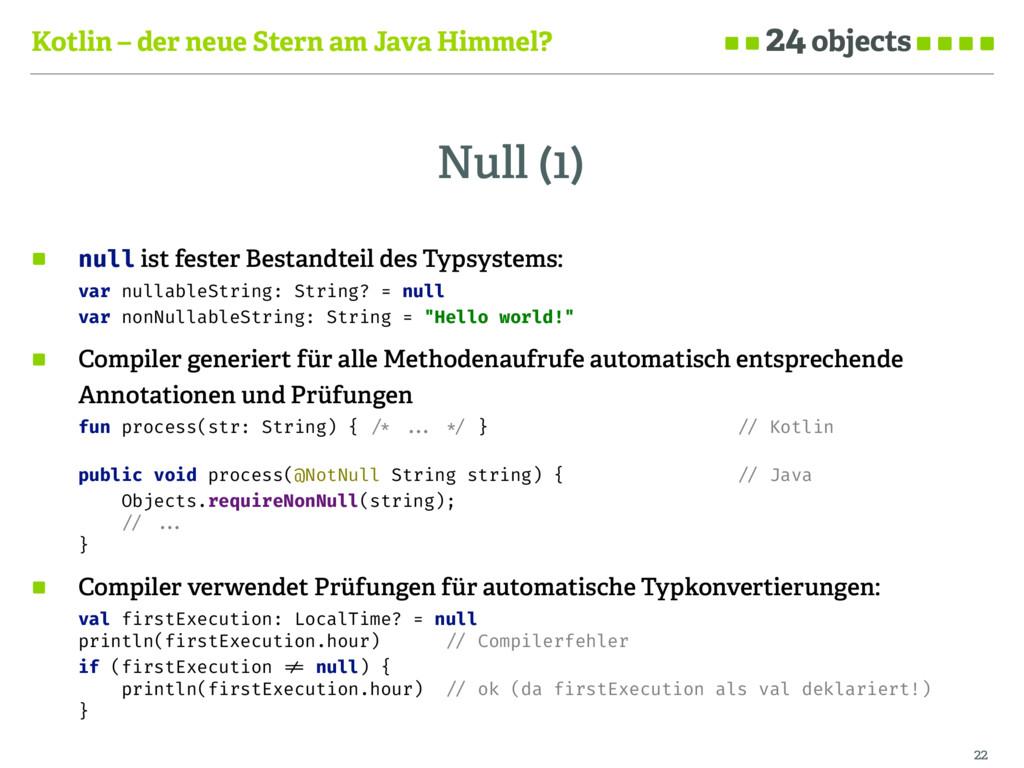 Kotlin – der neue Stern am Java Himmel? Null (1...
