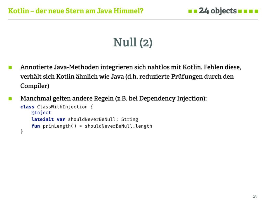 Kotlin – der neue Stern am Java Himmel? Null (2...