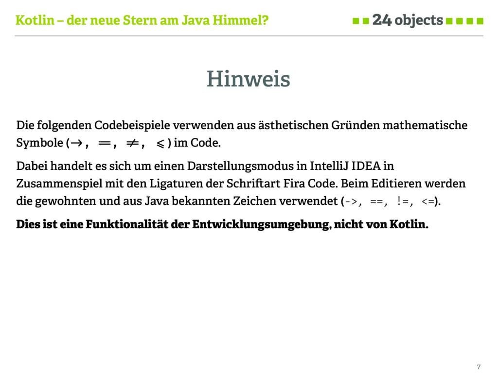 Kotlin – der neue Stern am Java Himmel? Hinweis...