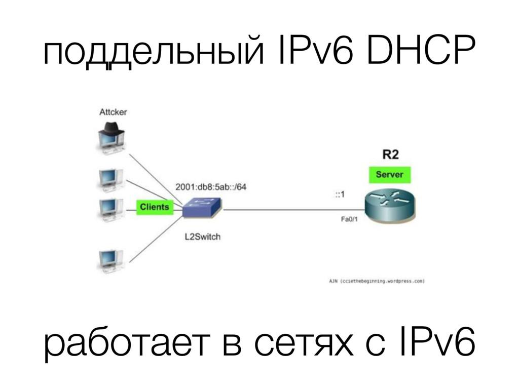 поддельный IPv6 DHCP работает в сетях с IPv6