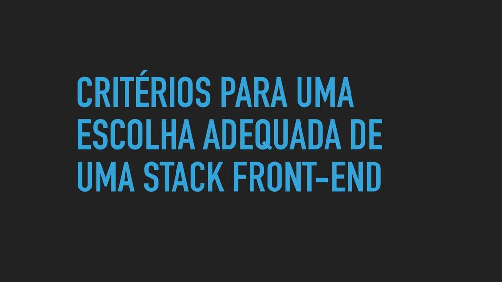CRITÉRIOS PARA UMA ESCOLHA ADEQUADA DE UMA STAC...