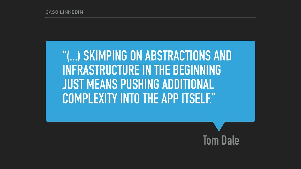 "Tom Dale CASO LINKEDIN ""(...) SKIMPING ON ABSTR..."