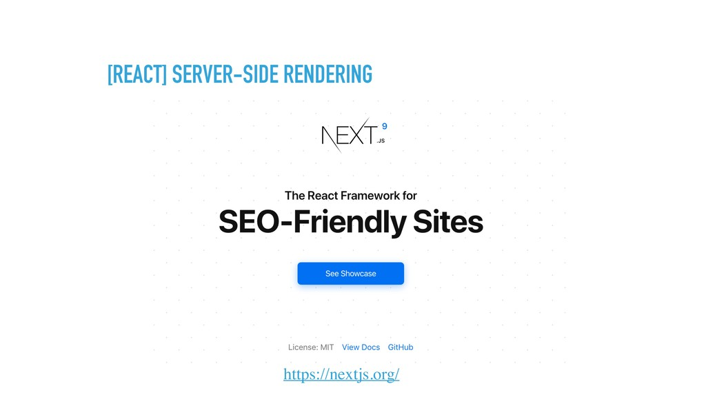 [REACT] SERVER-SIDE RENDERING https://nextjs.or...
