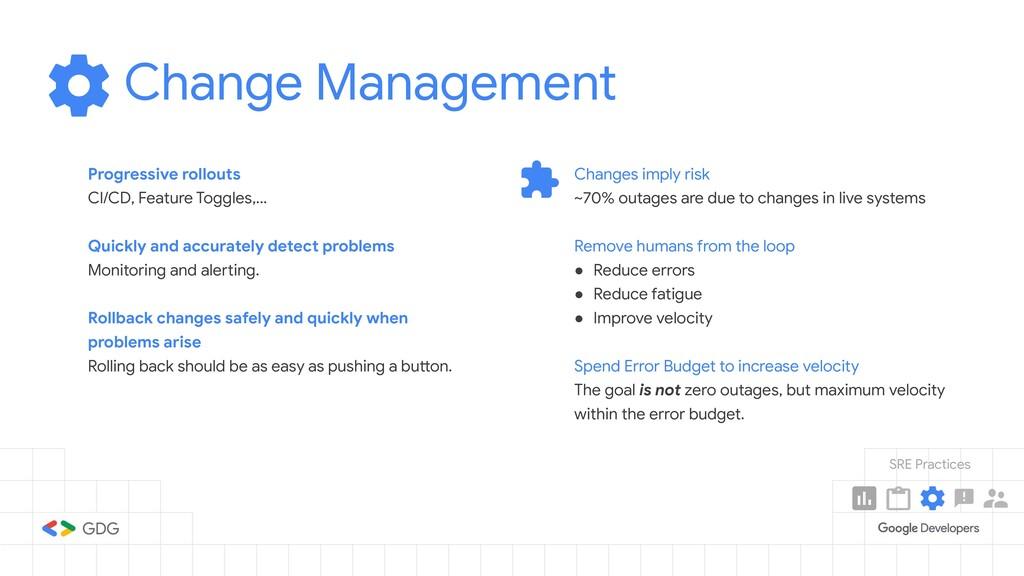 Change Management Progressive rollouts CI/CD, F...