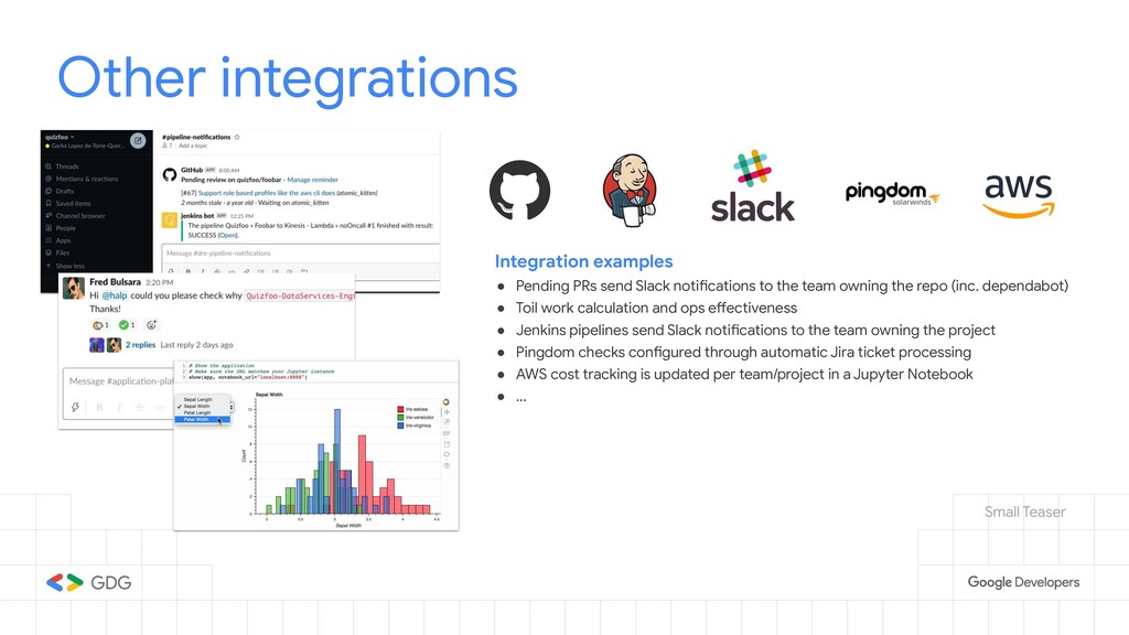 Other integrations Integration examples ● Pendi...