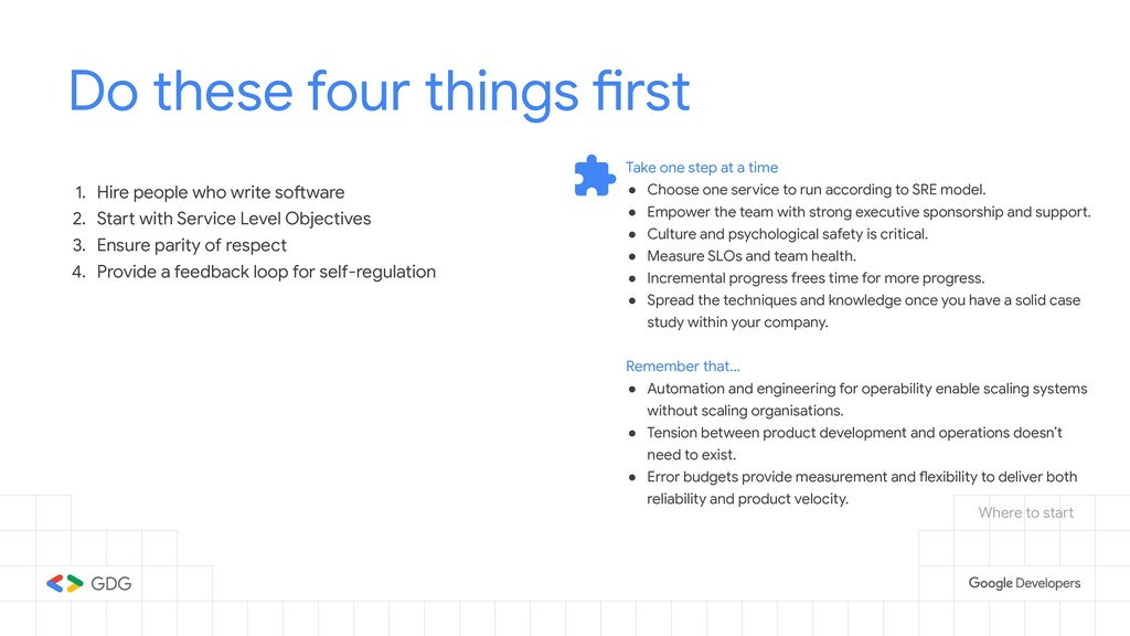 Do these four things first 1. Hire people who w...