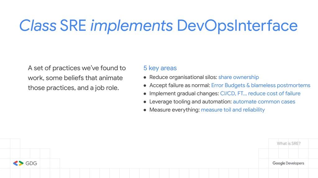 Class SRE implements DevOpsInterface A set of p...