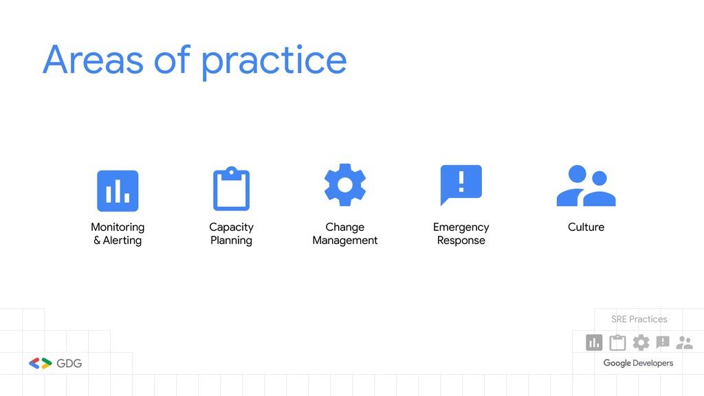 Areas of practice Monitoring & Alerting Capacit...