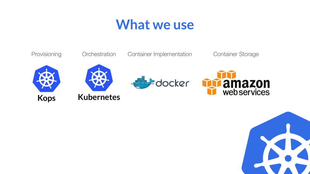 Kops Kubernetes What we use Provisioning Orches...