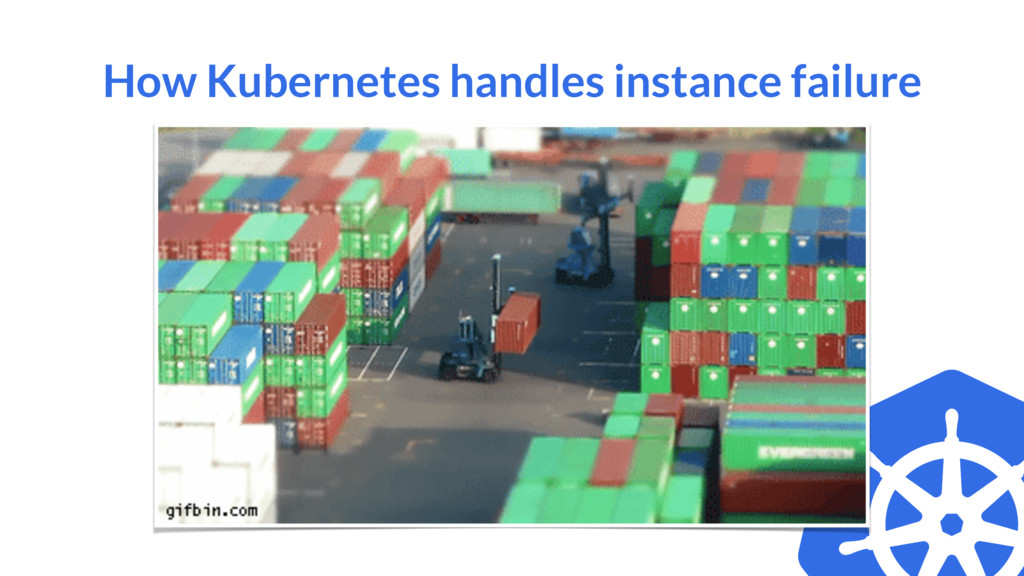 How Kubernetes handles instance failure