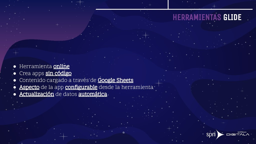HERRAMIENTAS GLIDE ● Herramienta online ● Crea ...