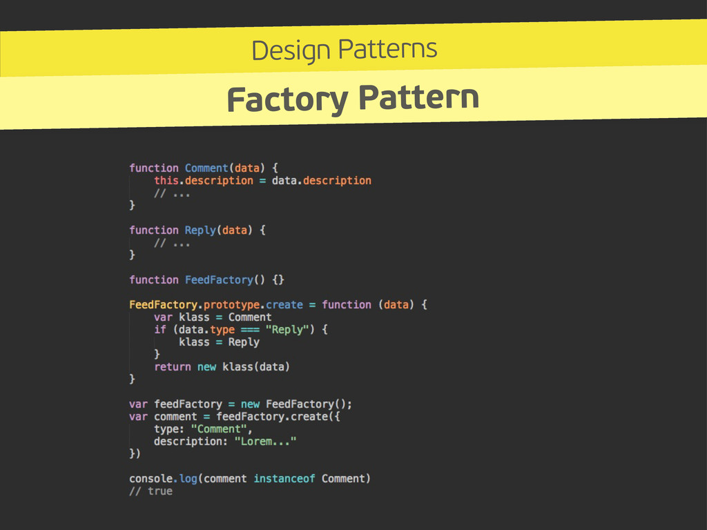 Design Patterns Factory Pattern