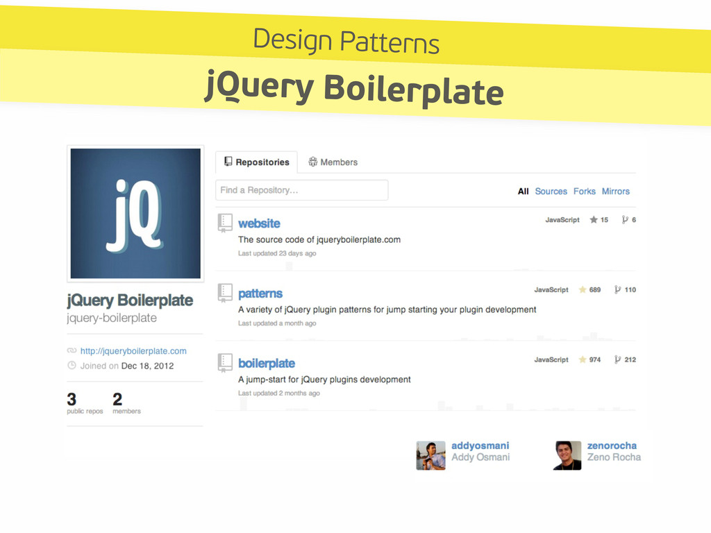 Design Patterns jQuery Boilerplate