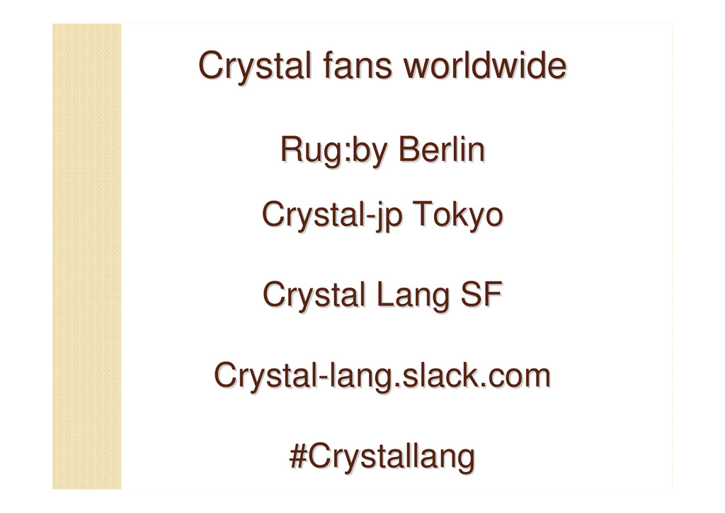 Crystal fans worldwide Crystal fans worldwide R...