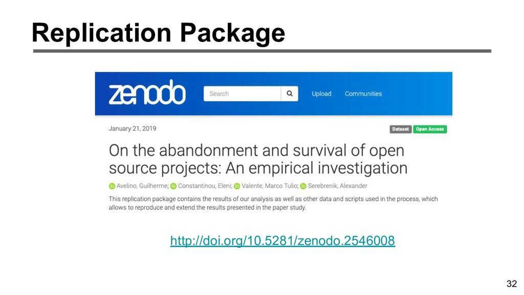 32 Replication Package http://doi.org/10.5281/z...