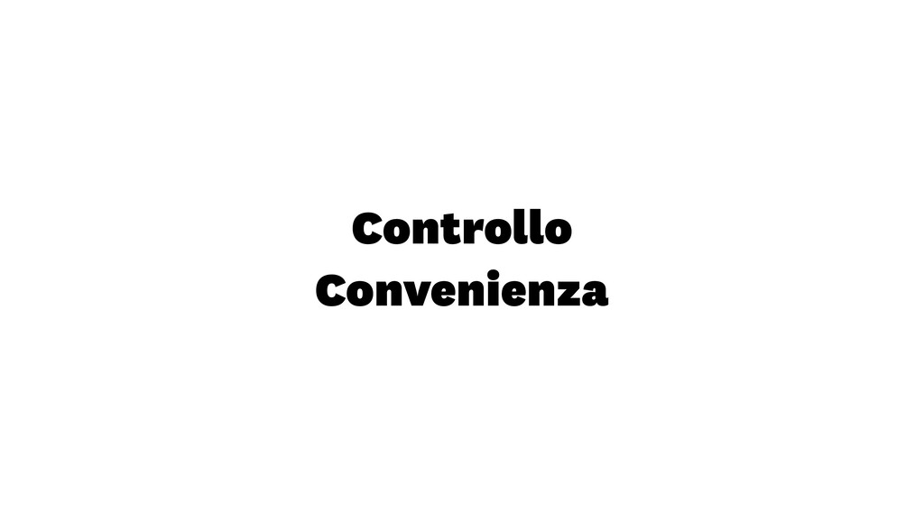Controllo Convenienza
